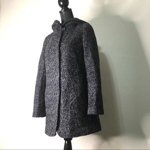 Bar lll Hooded Wool Blend Coat